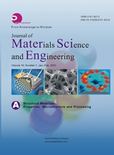 Journal of Materials Science and Engineering:A2020年2月第1期